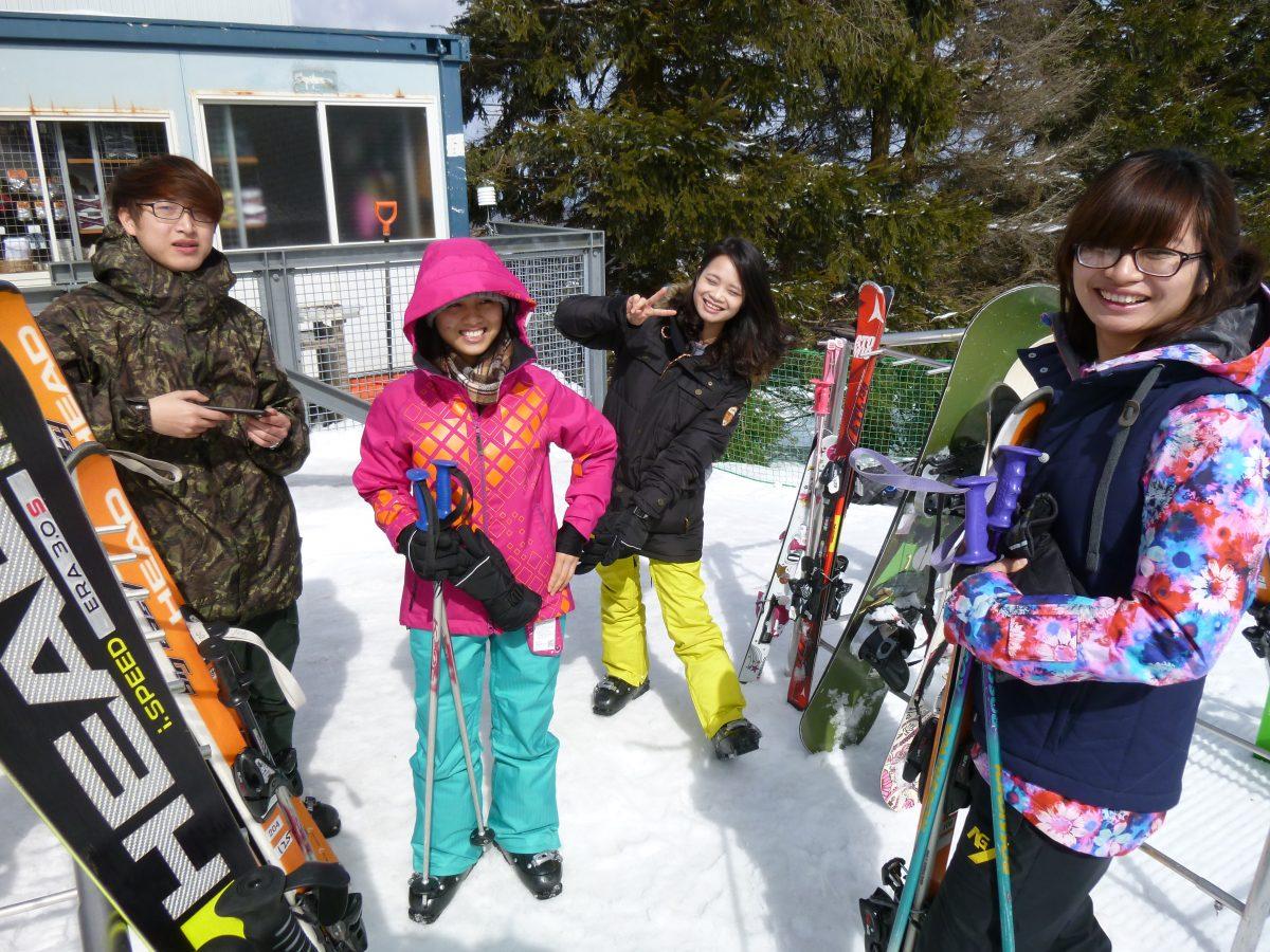 人生初のスキー!!