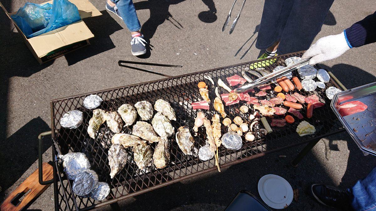 海鮮BBQしました~(^^)v 牡蠣たっぷり~