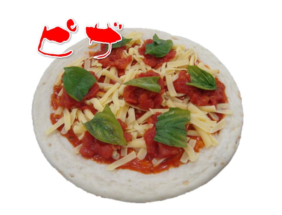 初めてのピザ作り~バジルものせて♫